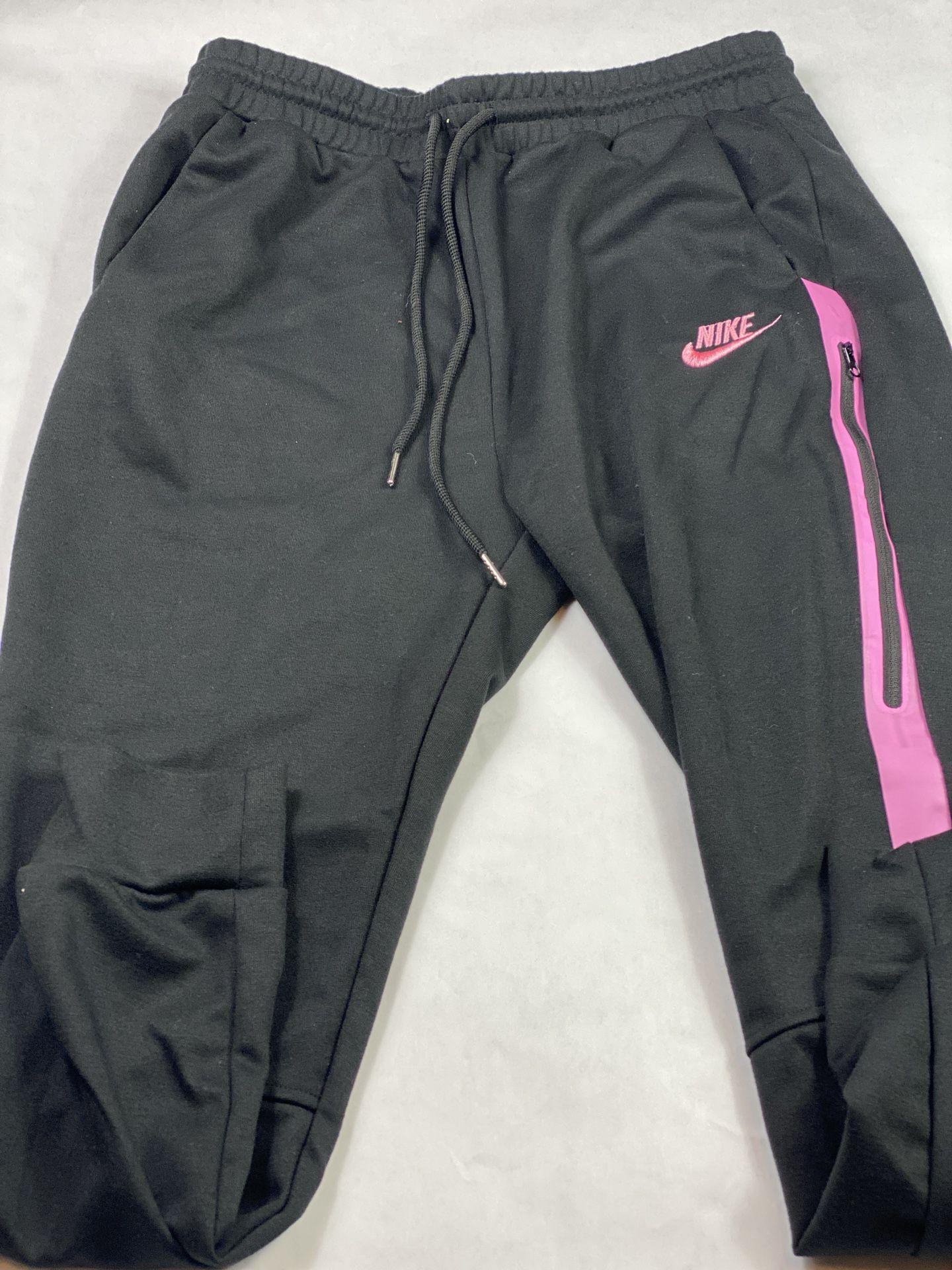 Black & Pink Nike Sweatsuit Medium
