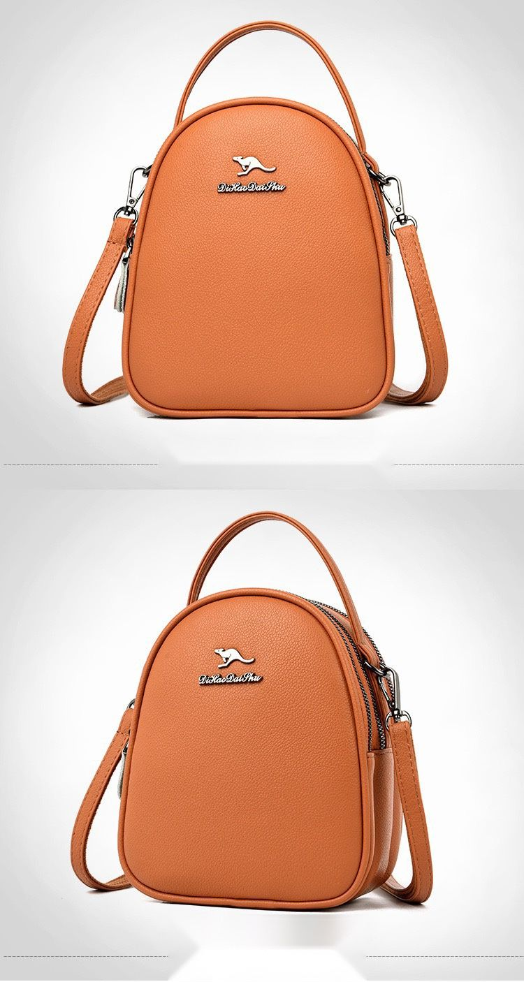 Brand new genuine leather small bag all-match three-layer shoulder bag