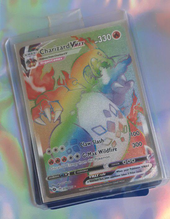 Charizard Vmax Rainbow Rare *Repacks Official Pokemon Tcg