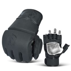MMA , UFC TRAINING AND FIGHT GLOVES WITH THUMB PROTECTION Thumbnail