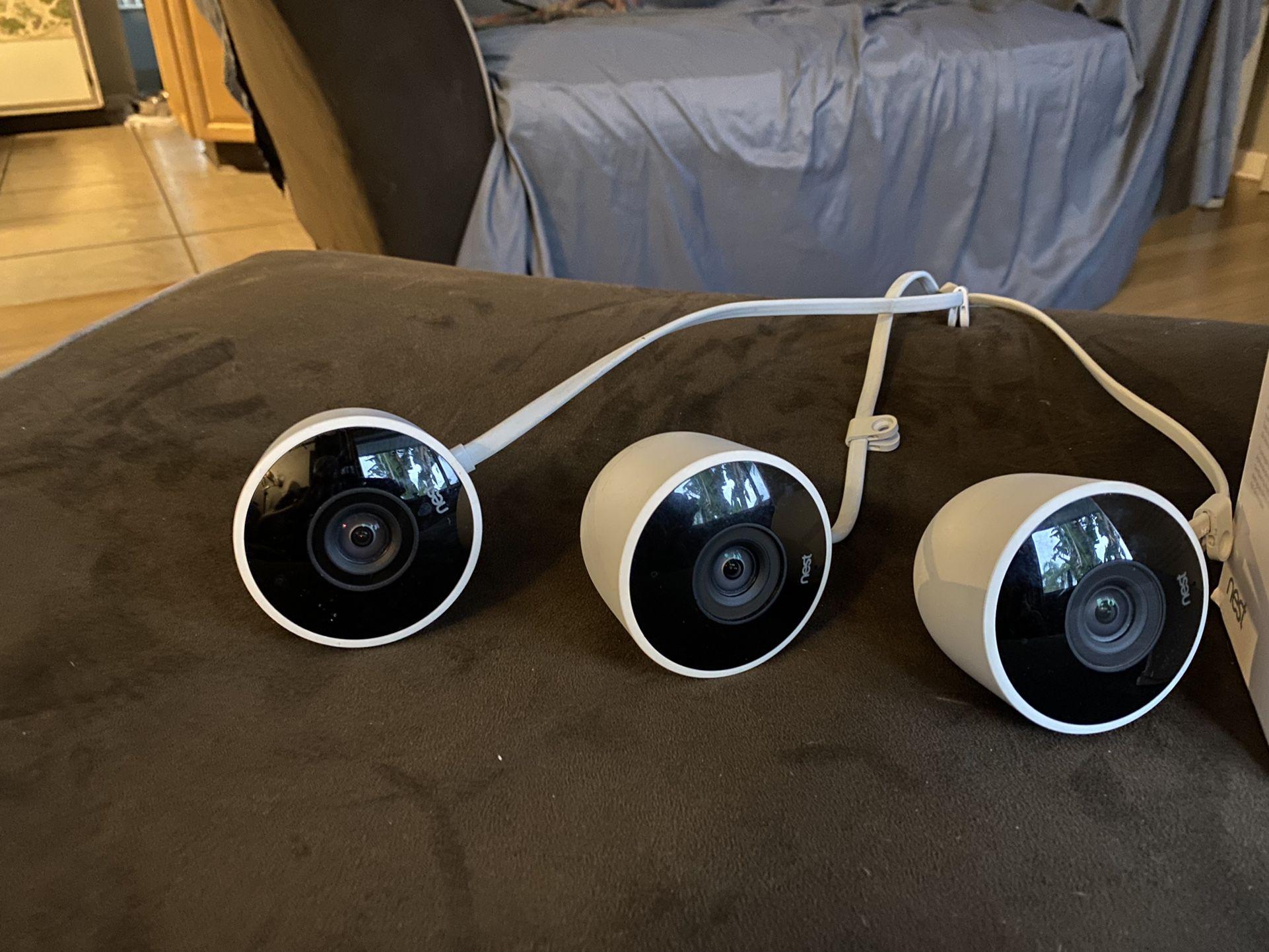 Ring Doorbell Pro, Nest Thermostat (3rd gen), Nest Outdoor Cameras