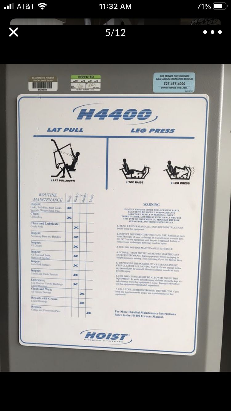 Hoist Commercial Grade Gym With Weights