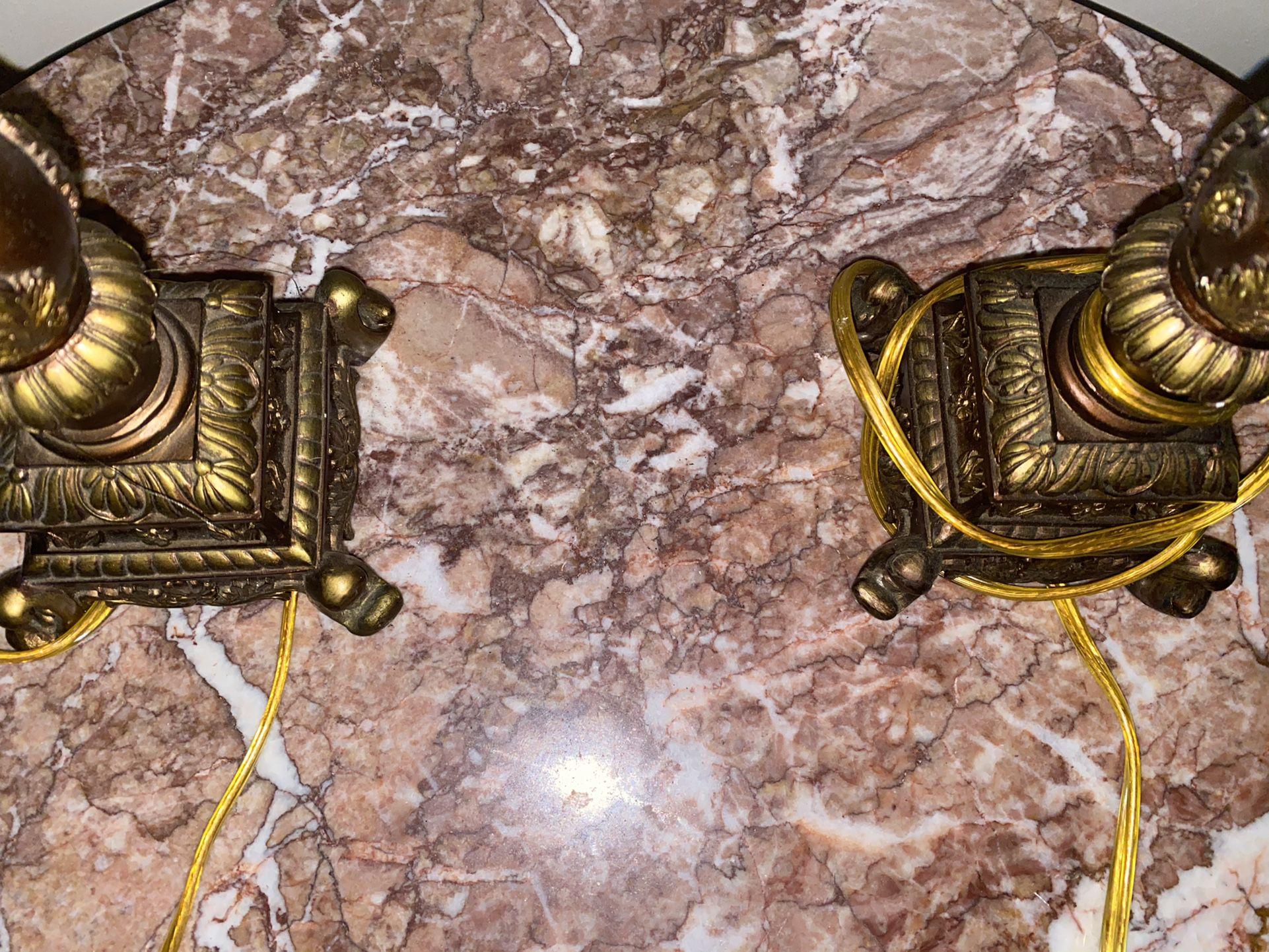 2 Piece Vintage Lamps