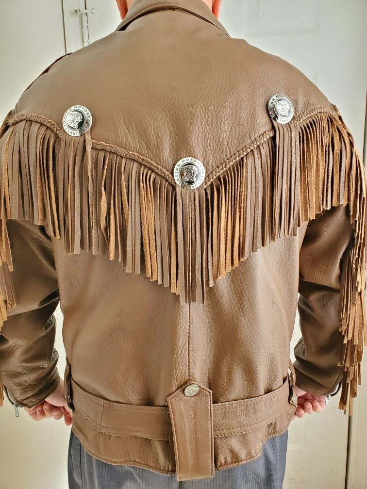 Custom Deerskin Leather Indian Motorcycle Jacket