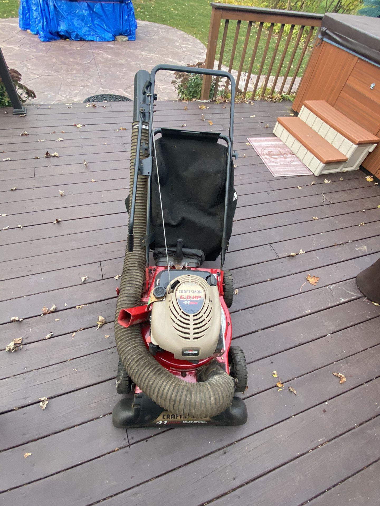 Craftsman Yard 4:1 Machine -Vacuum/Mulcher/Blower/Chipper
