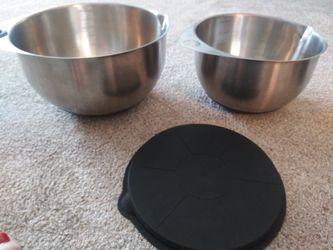 3 pc pampered chef mixing measuring bowls Thumbnail