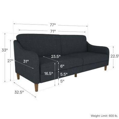 Modern Grey Sleeper Couch