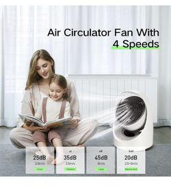 USB Personal Desk fan , Small Quiet Desktop table fan ,4 speeds Rechargeable Oscillating Cordless fan with Led light Thumbnail