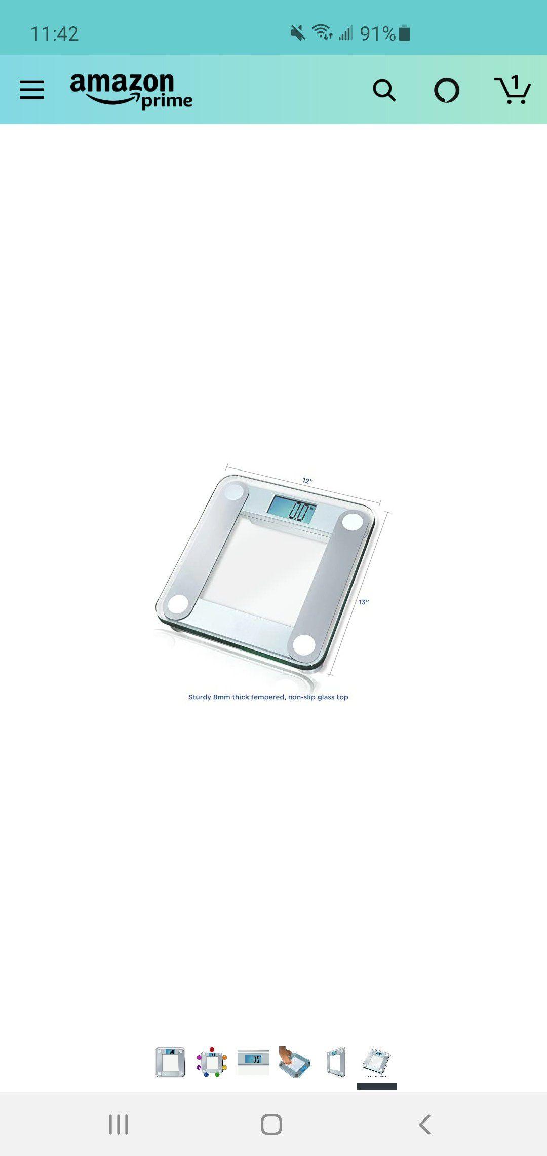 Bathroom scale w/ box