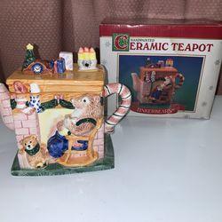 New Ceramic Hand painted Tinker bear Tea Pot Mint Condition  Thumbnail