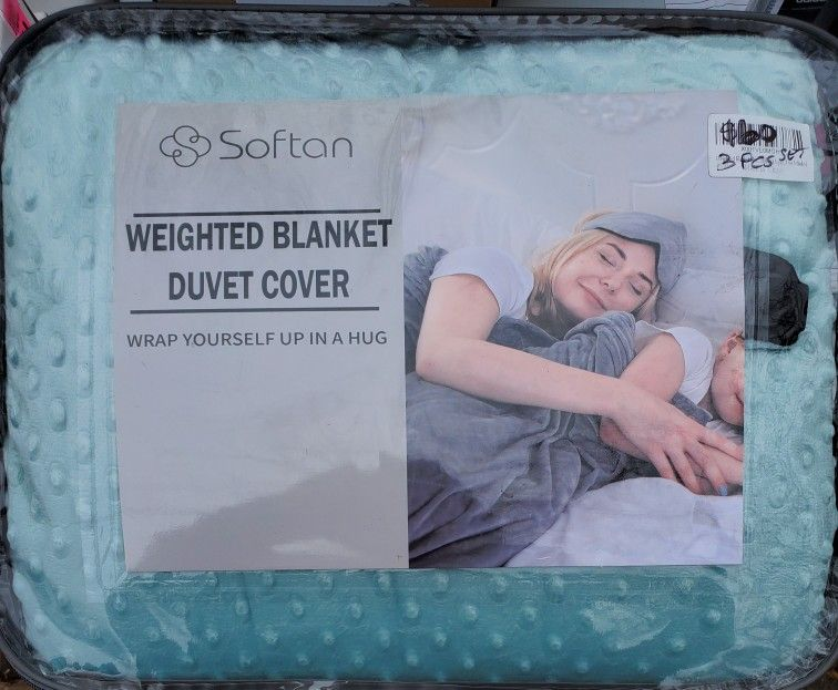 Awesome Weighted Blanket 3pcs Set New $60 Obo