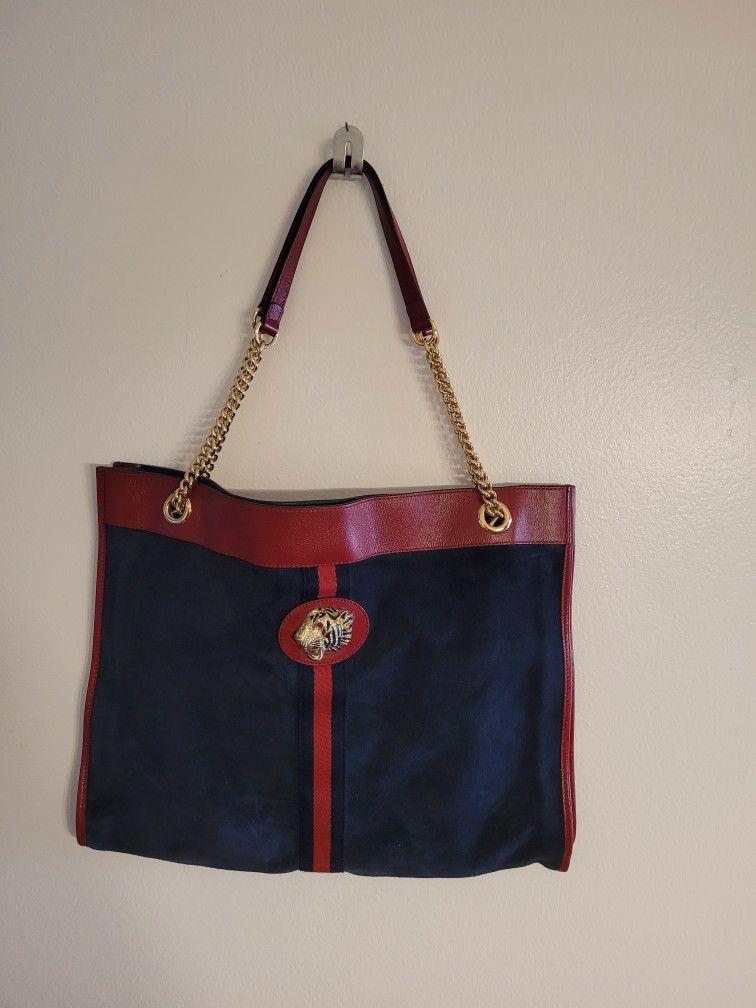 Authentic Gucci Rajah Large Tote Handbag