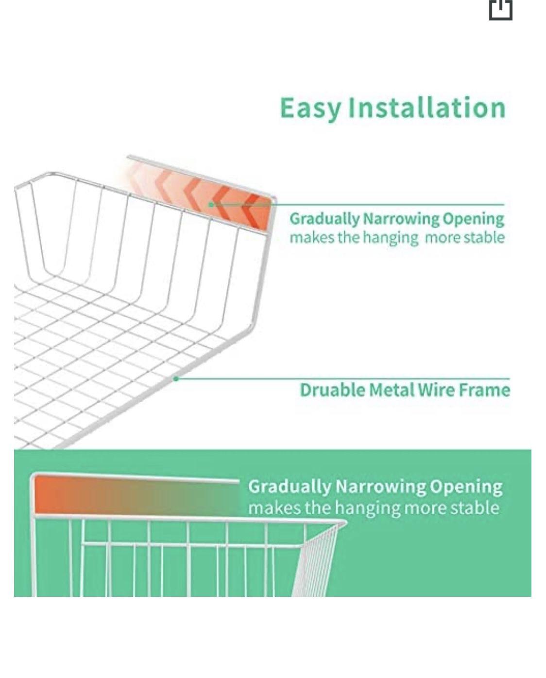 Under Shelf Wire Basket Stable Hanging Basket