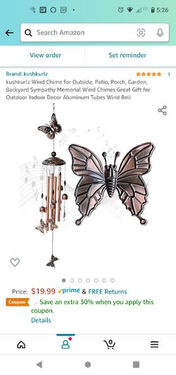 New! Wind Chime for Outside, Patio, Porch, Garden, Backyard Sympathy Memorial Wind Chimes Great Gift for Outdoor Indoor Decor Aluminum Tubes Wind Bell Thumbnail