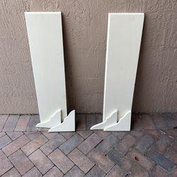 2 White Wooden Shelves  Thumbnail