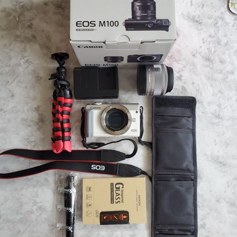 Canon M100 Bundle With Ef -eos Adapter
