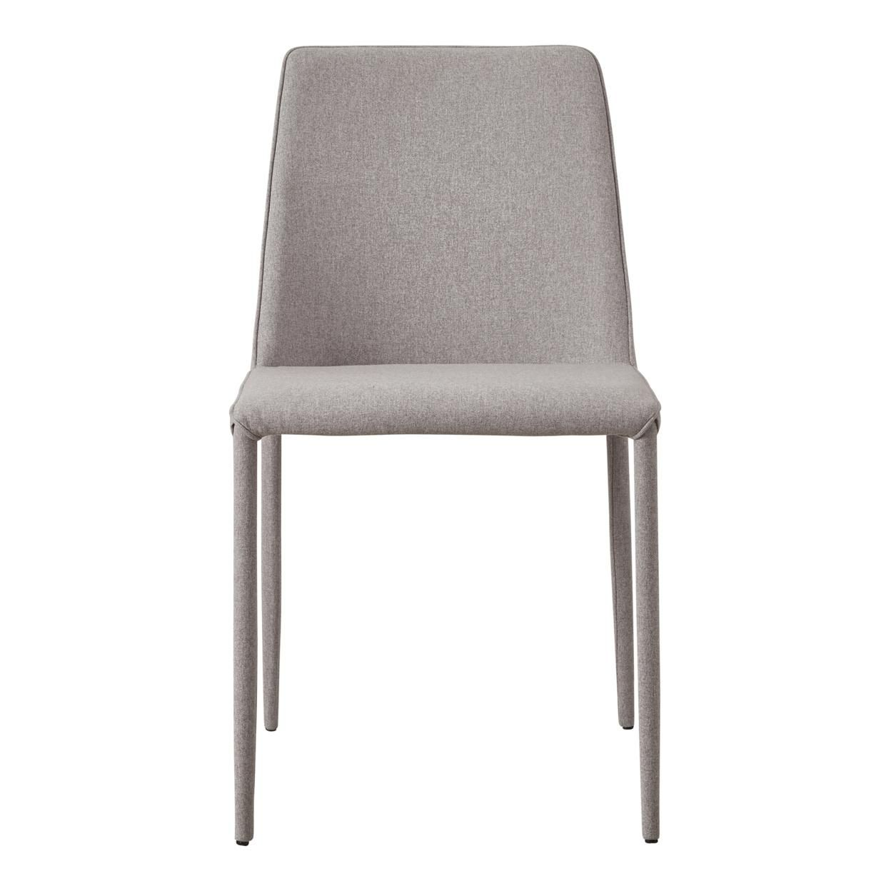 Nora Fabric Dining Chair Light Grey-Set Of Two