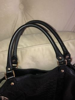 Large Authentic Gucci Sukey Handbag Tote canvas material with Gucci charm. Thumbnail