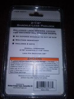 """Brand New Bunker Hill Shack-less Padlock 2 7/8"""" Thumbnail"""