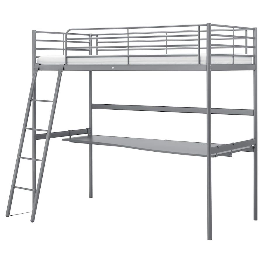 Ikea Loft Bed with Desk Top