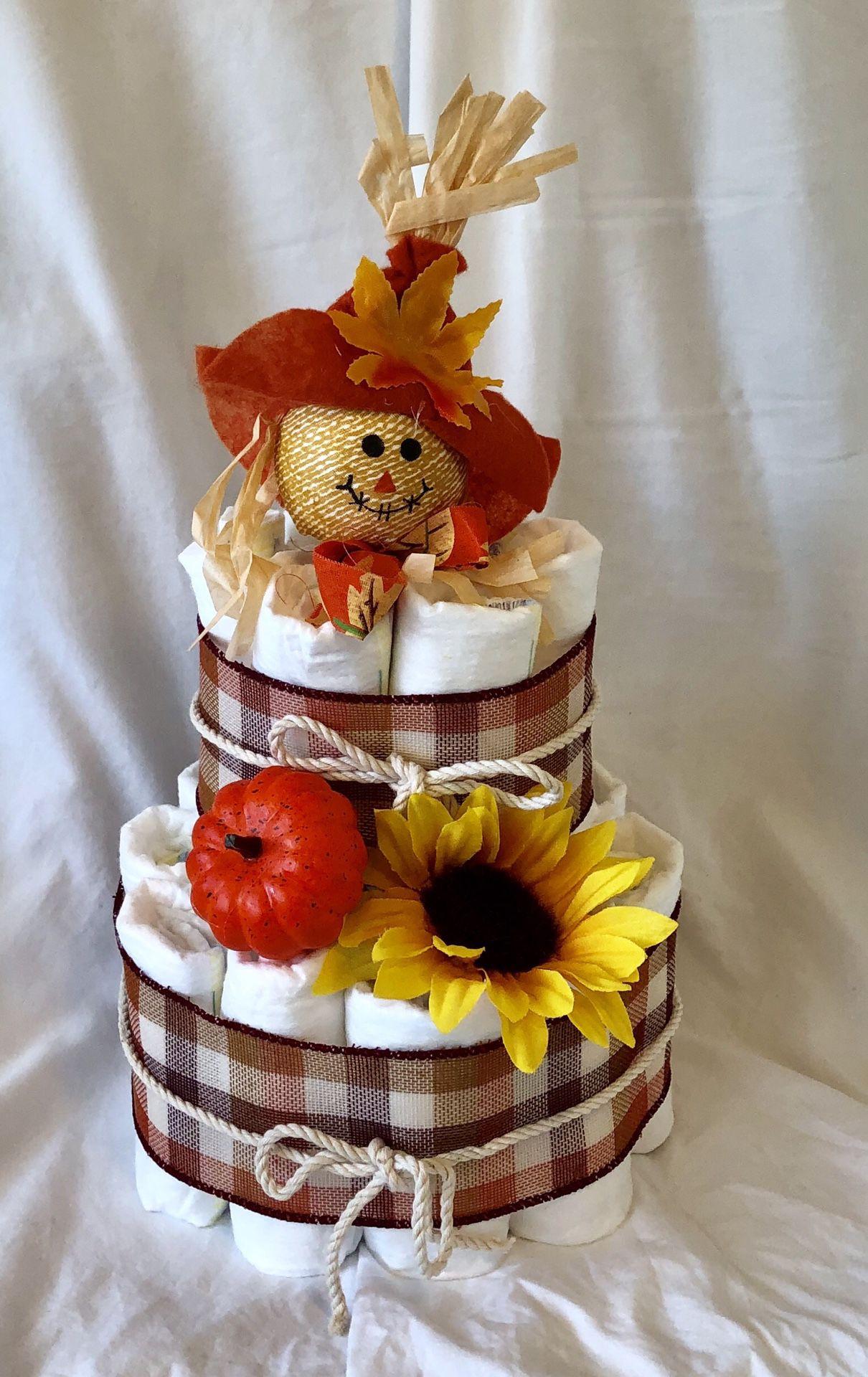 Fall Diaper Cake