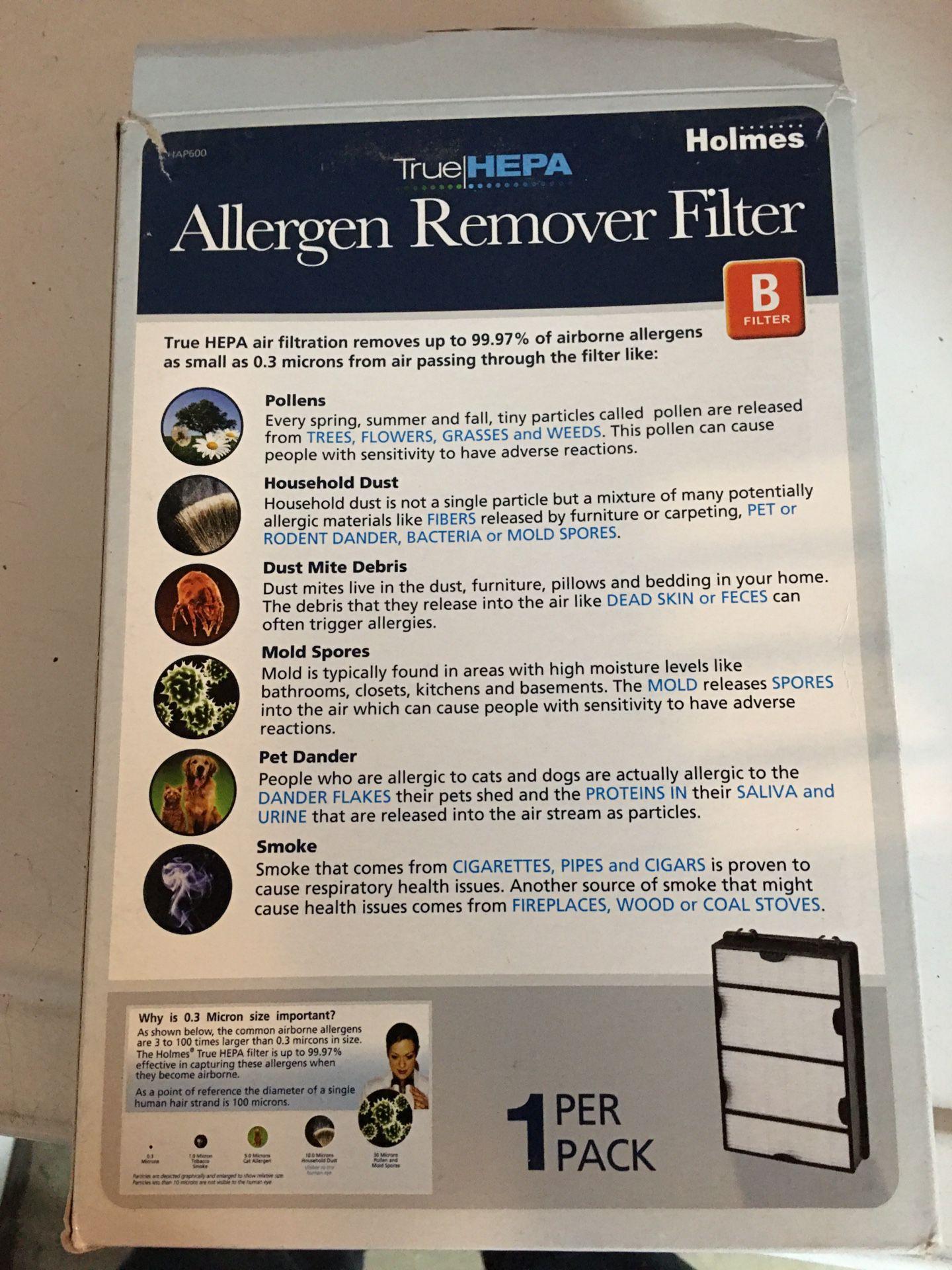 Air purifier filters hepa brand new