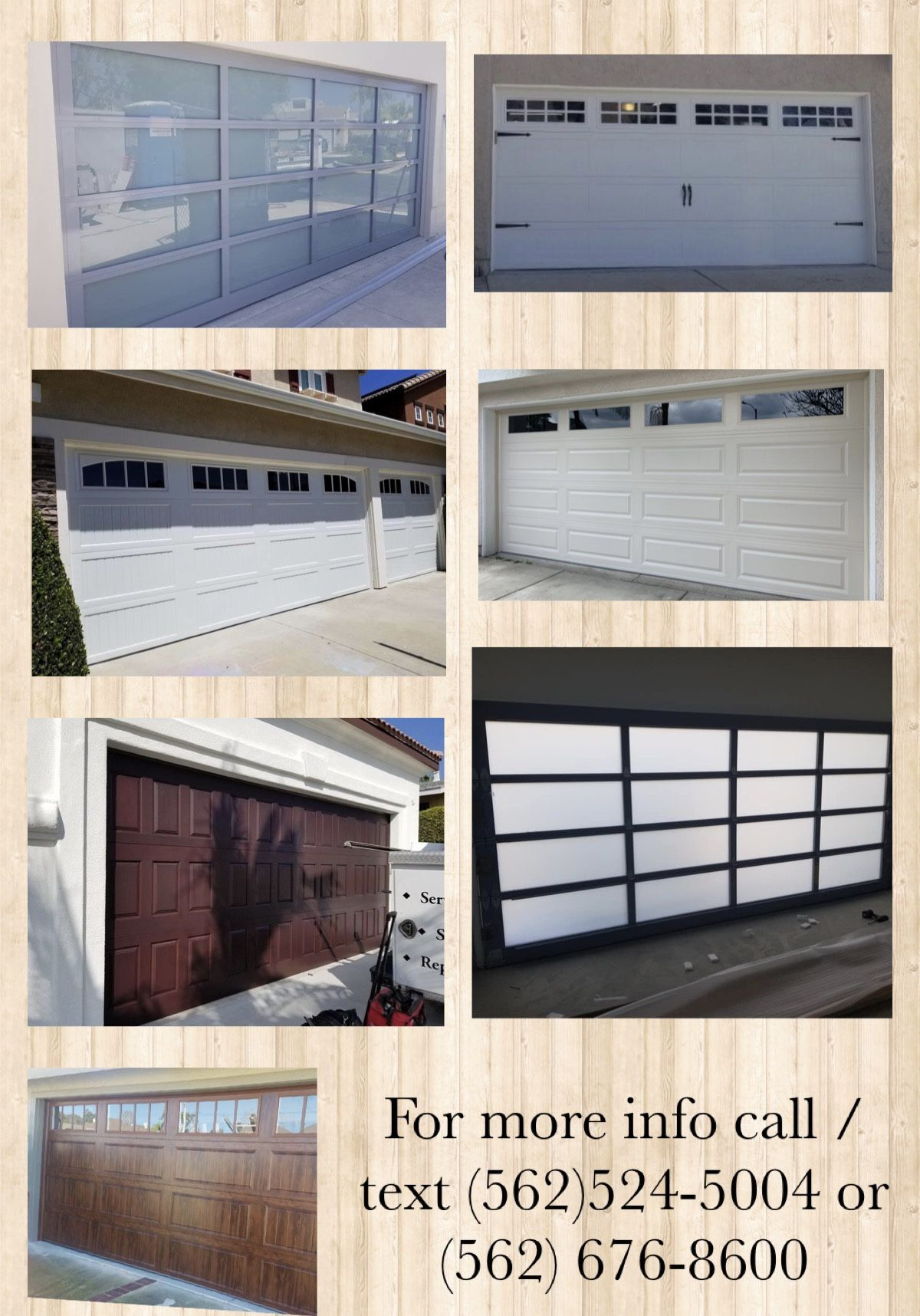 Garage Doors / Installation, repairs and services