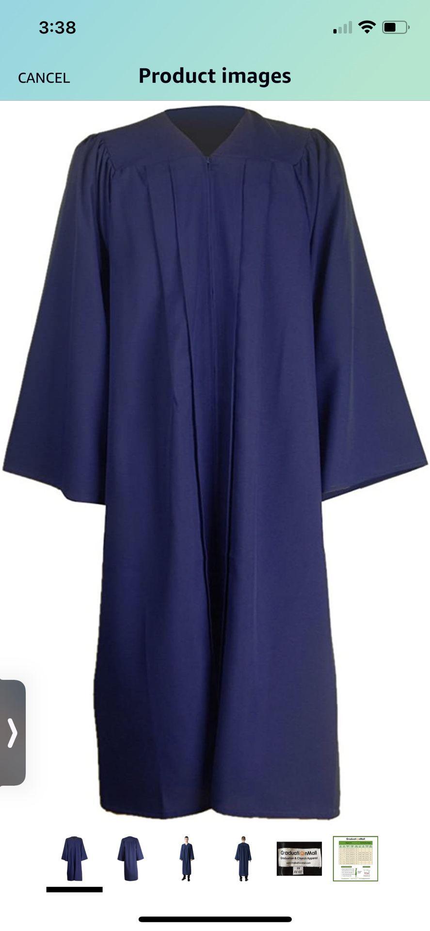 GraduationMall Unisex Matte Graduation Gown for High School & Bachelor