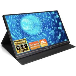 Portable Monitor 15.6 Inch 100% SRGB 1080P Gaming Monitor FHD Portable Laptop Monitor 1920 x 1080 IPS 178° Screen Eye Care Display with HDMI USB Type- Thumbnail