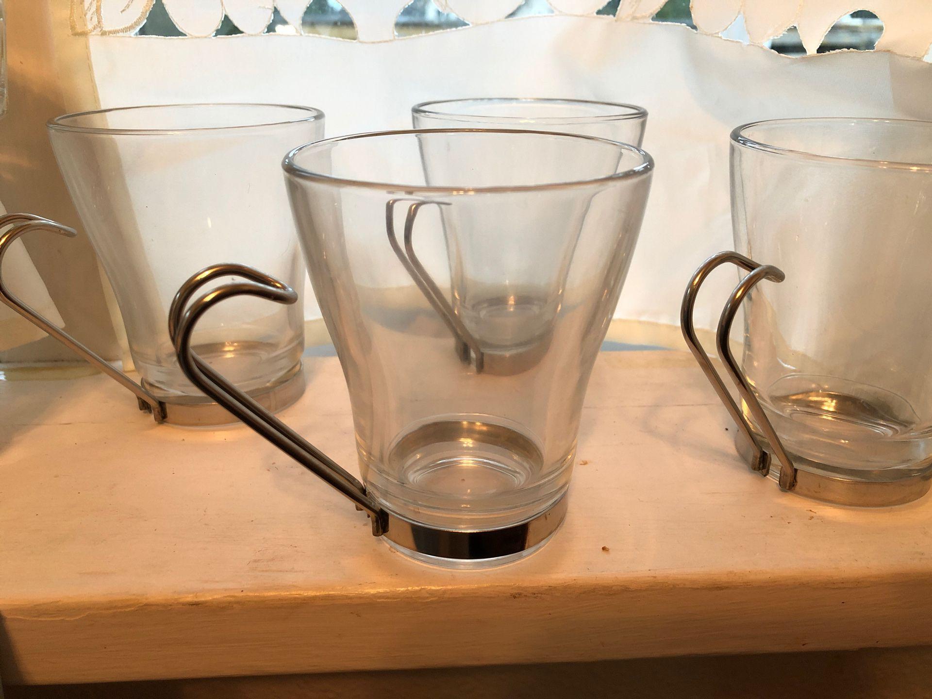4 item glass coffee cups