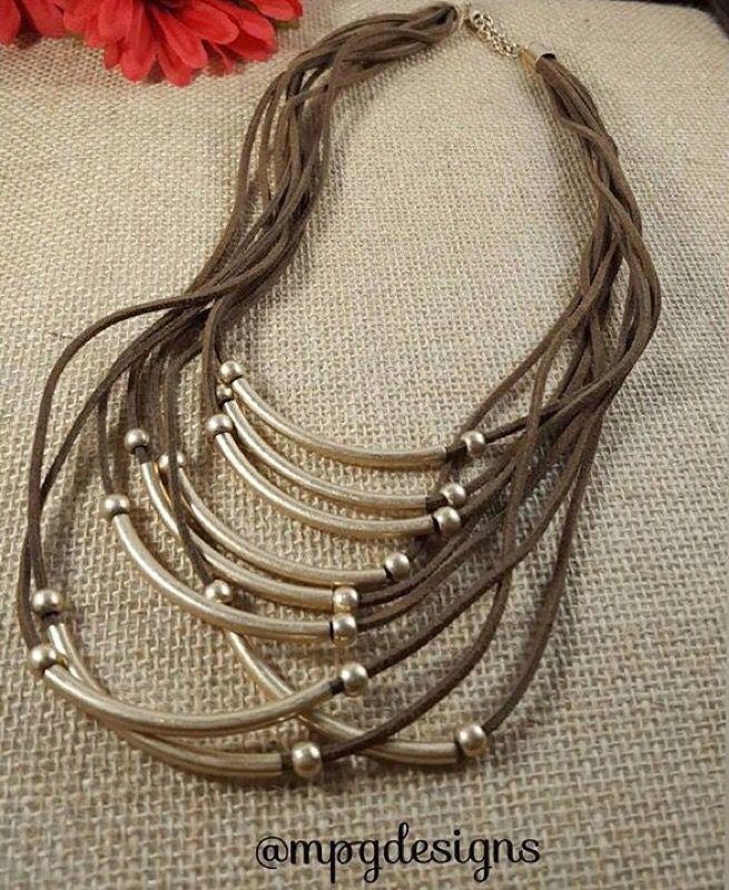 Handmade brown necklace!!