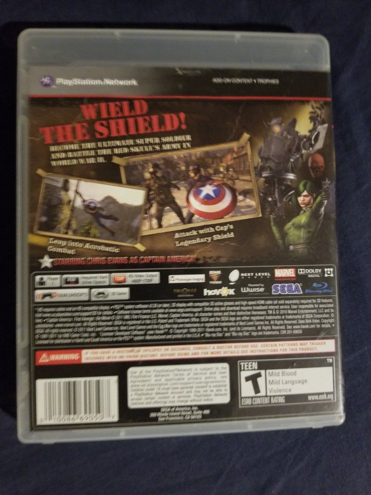 Captain America Super Soldier For Ps3