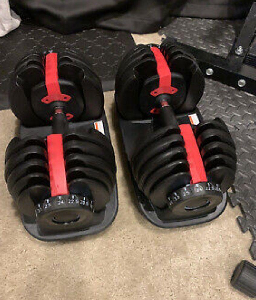 Bowflex Adjustable Dumbbells set with stand