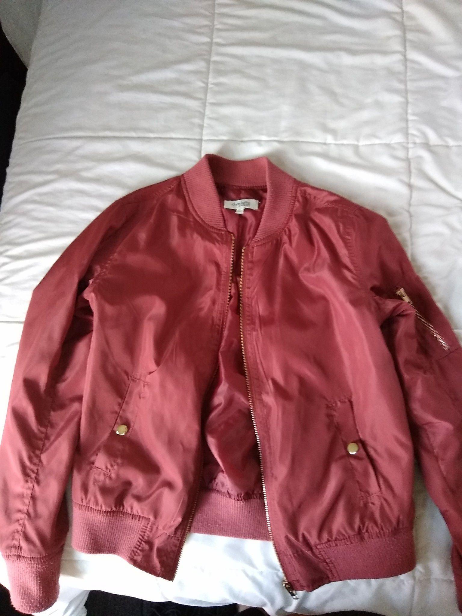 Rose pink bomber jacket !!