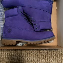 Men's Timberland Purple Size 9.5 Make An Offer Thumbnail