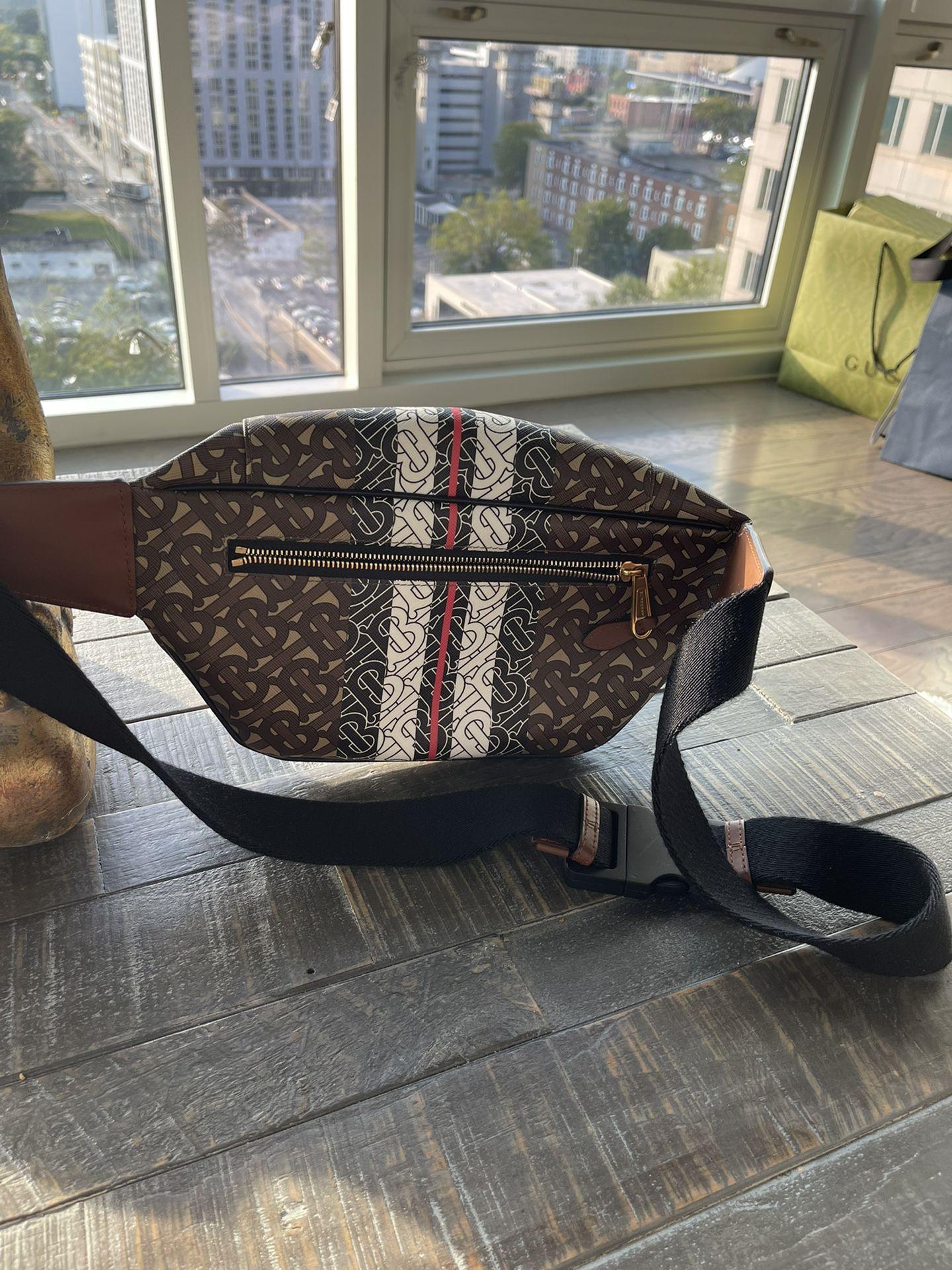 Burberry Monogram Stripe E-canvas Bum Bag