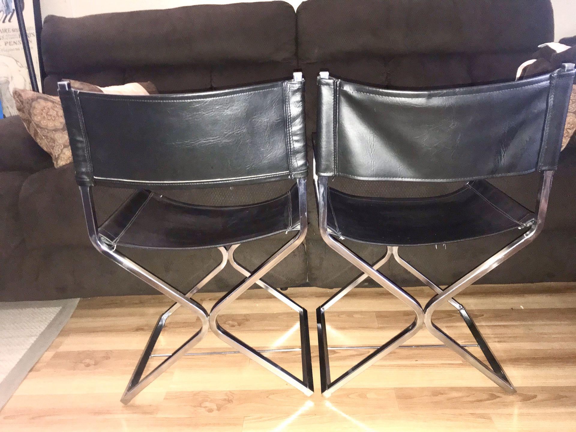 Mid-Century Modern Chrome Director Chairs