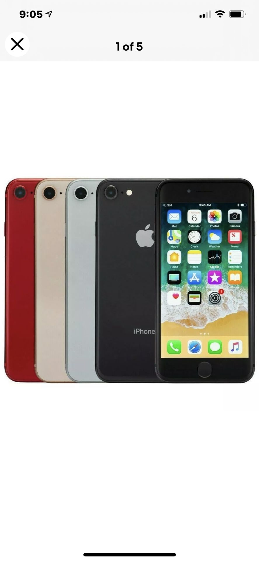 Apple iPhone 8 64GB GSM Unlocked AT&T T-Mobile Very Good Condition - Like New $300
