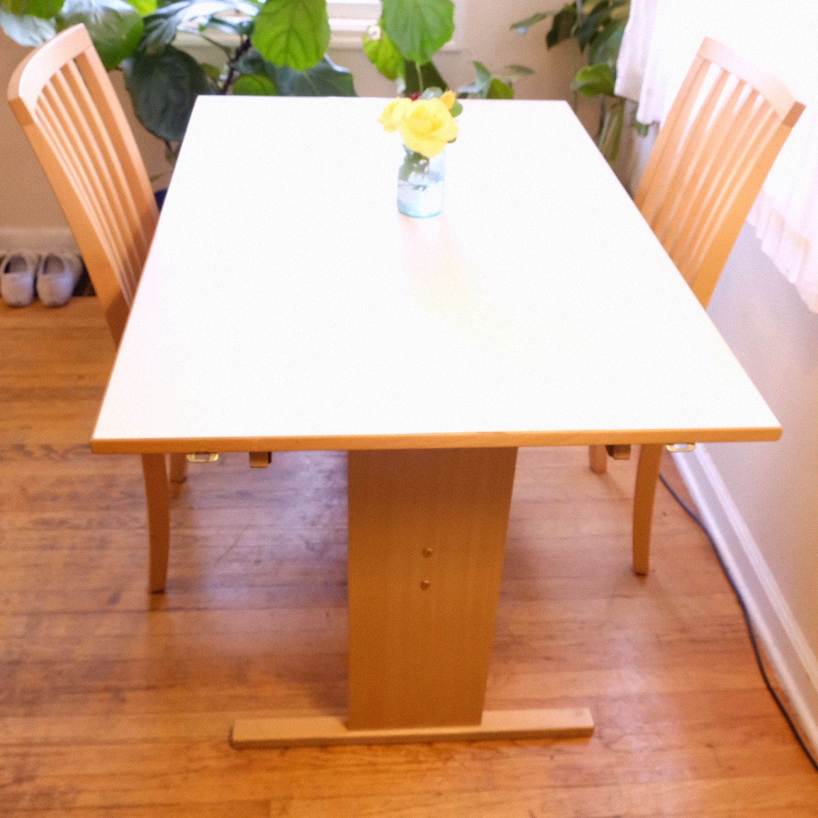 Vintage Gangso Møbler table & 2 matching Skovby chairs