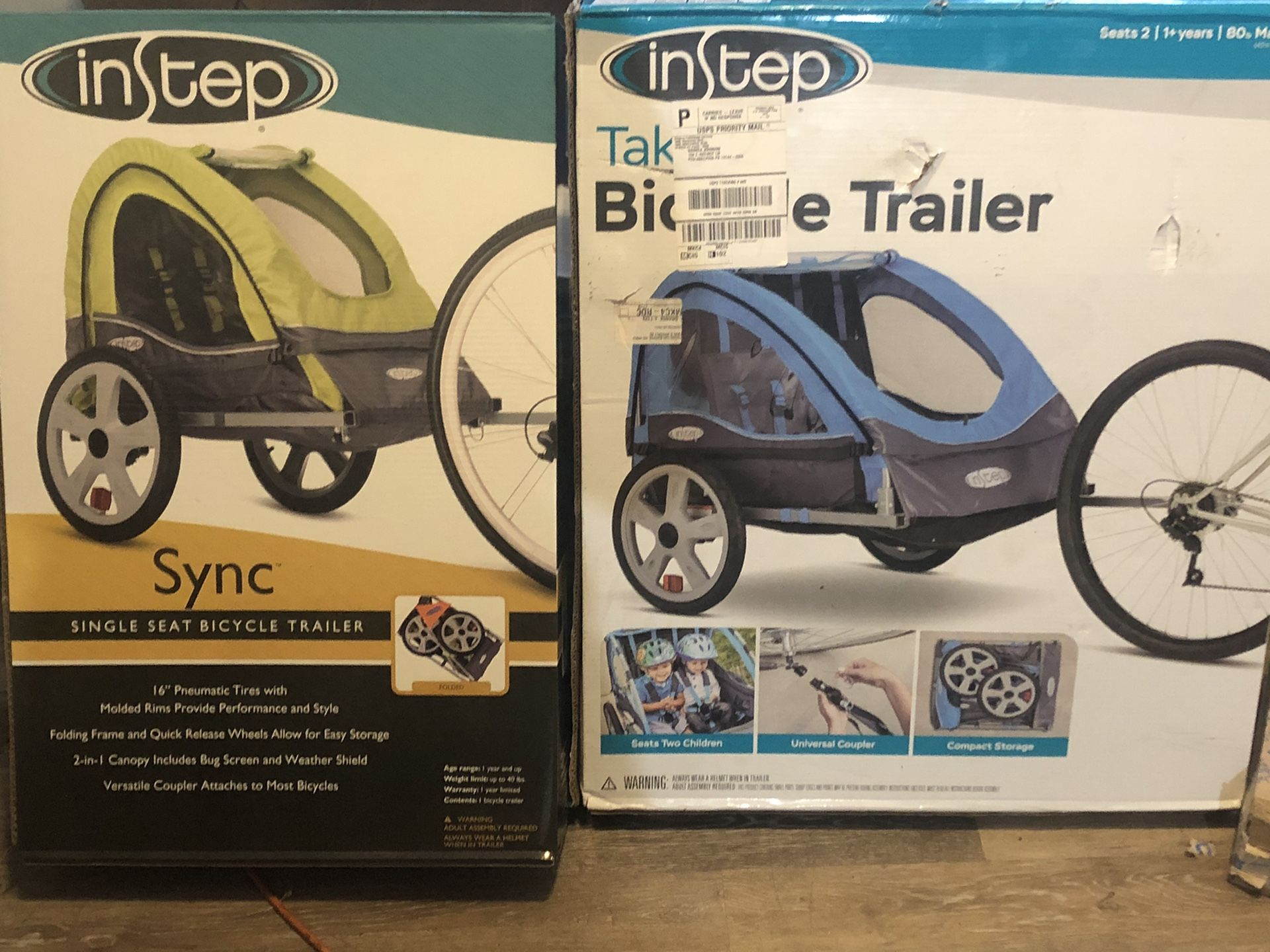 INSTEP BICYCLE TRAILER BRAND NEW NEVER OPENED!!!