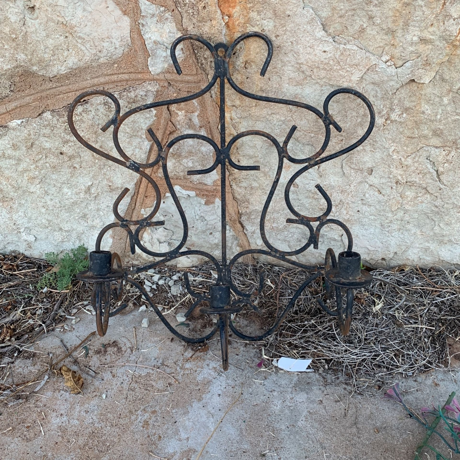 antique wall hanging candle holder
