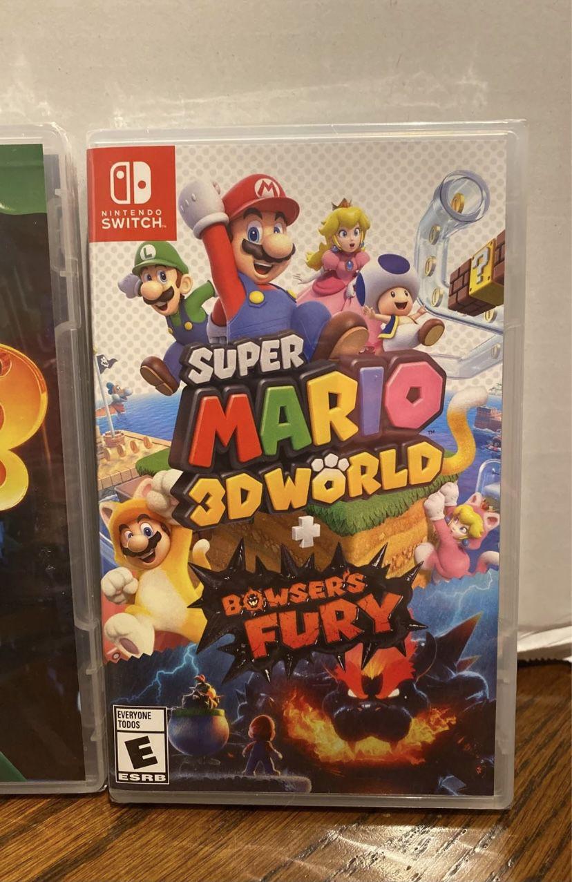 Nintendo Switch games Sealed bundle  Mario Golf  Luigi's Mansion 3 Super Mario 3D World Browser's Fury