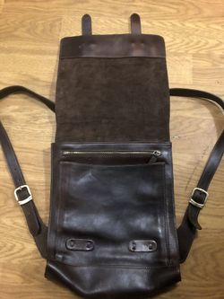 The old angler genuine leather backpack Thumbnail