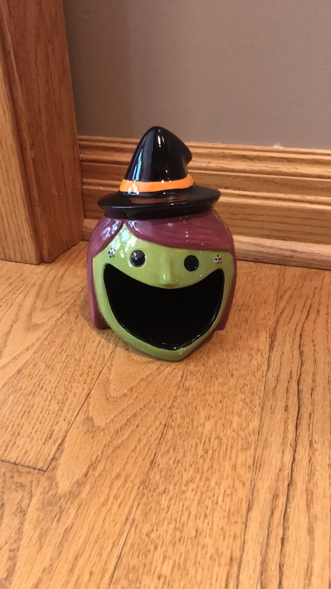 Witch Ceramic Candy Dish