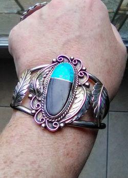 Vintage Sterling Silver Bracelet & Ring Set Thumbnail