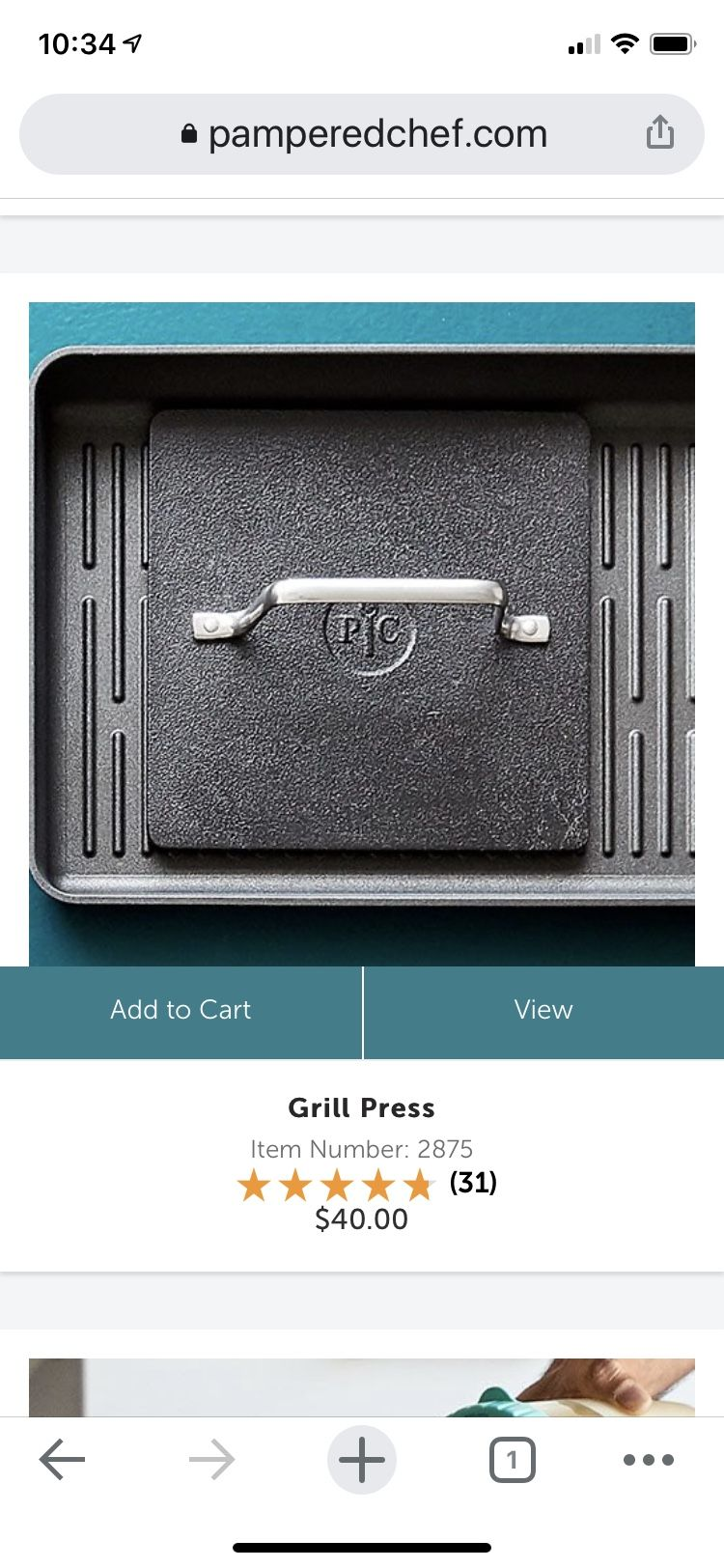 Pampered Chef Grill Pan and Press
