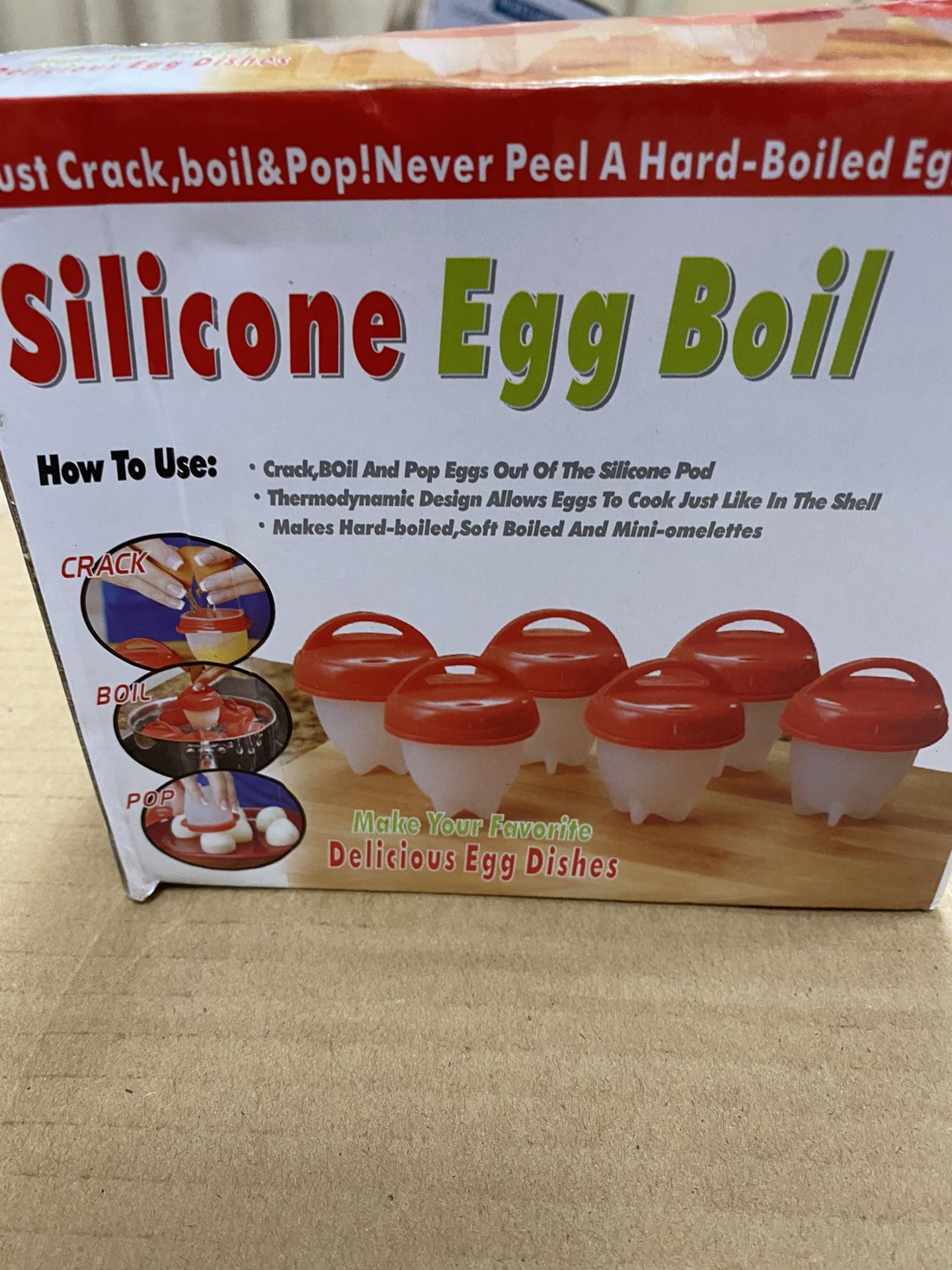 Egg silicone Cooker -boil Egg Poachers -Hard Boiled Eggs without the Shell Hard & Soft Maker, Use Oil, Non Stick Silicone, Boiled, Steamer,JUST AS SE