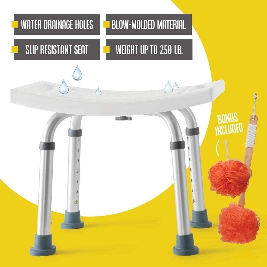 8 Height Bariatric Bath Bench Shower Chair Stool Heavy Duty Shower Tub Chair