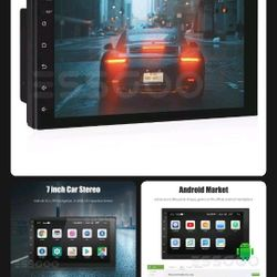 7 Inch Touchscreen 10.1 Android 16G Stereo And 4 Hifonics 6X8 250 Watts Speakers 1000 Watts Total Brand New In Original box  Thumbnail