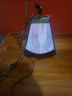 Vintage pink hanging lamp Thumbnail